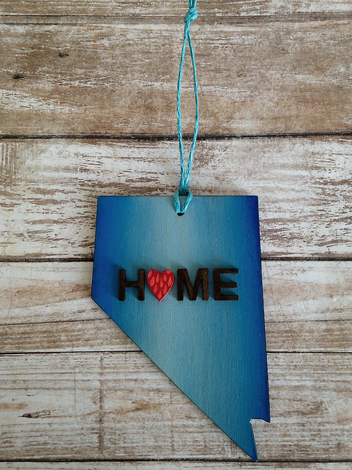 Blue Home Nevada State Ornament