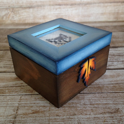 Silhouette Fox Keepsake Box