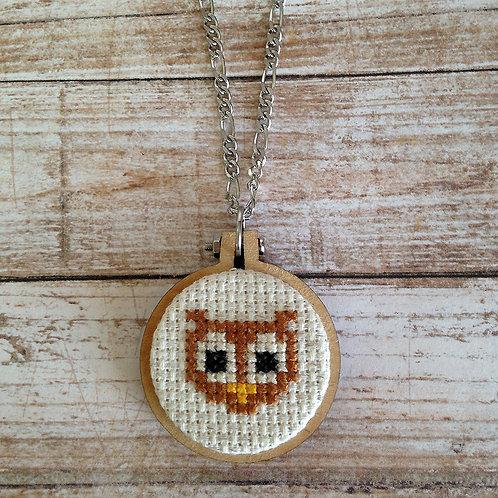 Big-Eyed Wise Owl Pendant Necklace