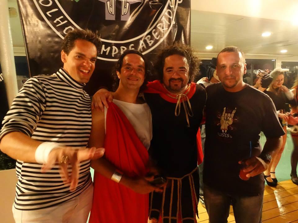 Renato Moog, Anderson Macedo,  Júlio Abrileri e Fernando Gamba