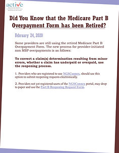 Did You Know that the Medicare Part B Overpayment Form has been Retired?