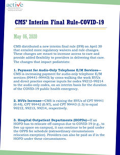 CMS' Interim Final Rule-COVID-19
