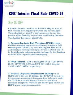 CMS' Interim Final Rule-COVID-19