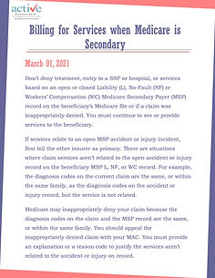 Billing for Services when Medicare is Secondary