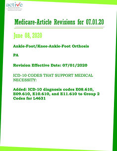 Medicare-Article Revisions for July 1st, 2020