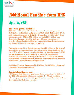 Additional Funding from HHS
