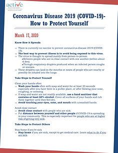Coronavirus Disease 2019 (COVID-19)- How to Protect Yourself