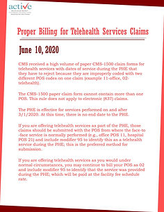 Proper Billing for Telehealth Services Claims