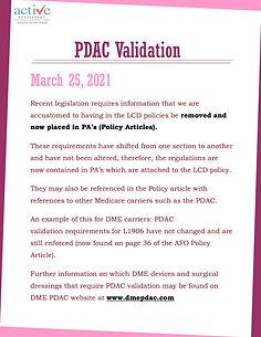 PDAC Validation