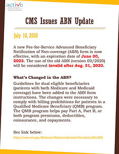 CMS Issues ABN Update