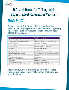 Do's and Don'ts for Talking with Patients About Coronavirus Vaccines