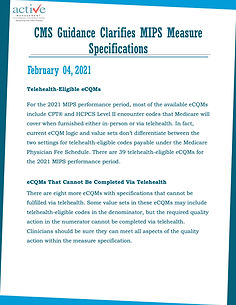 CMS Guidance Clarifies MIPS Measure Specifications