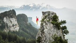 Extreme Highlining with Lukas Irmler   Private Project