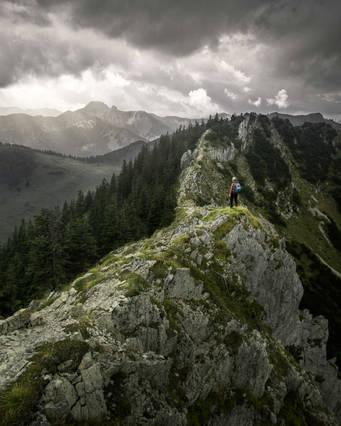 Hiking at Brecherspitz, Bavaria, Germany