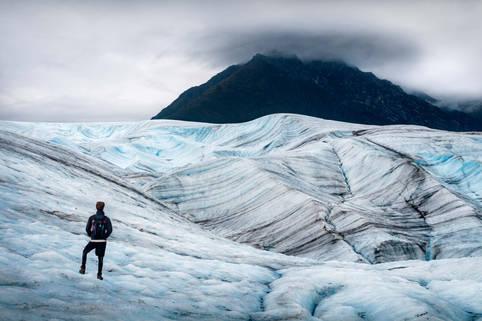 Ice hiking at Kennicott Glacier, Wrangell St. Elias National Park, Alaska