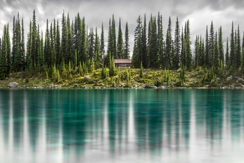 Water reflection at Eva Lake, Revelstoke National Park, Canda