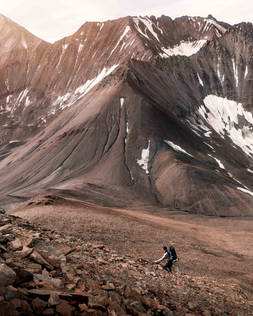 Climbing Mount Decoeli in Kluane National Park, Yukon, Canada