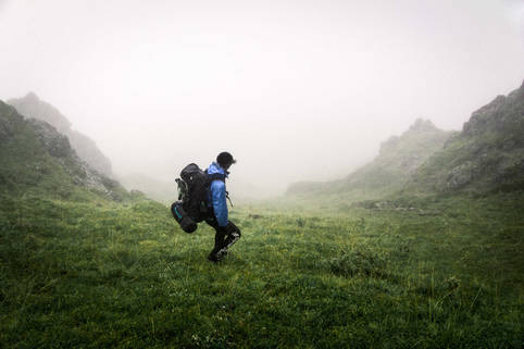 Backcountry hiking at Denali National Park, Alaska