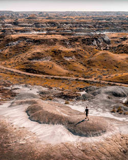 The Badlands of Dinosaur Provincial Park, Alberta, Canada