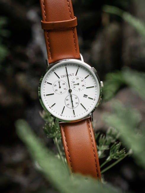 Product photo of Leopolt watch between leaves