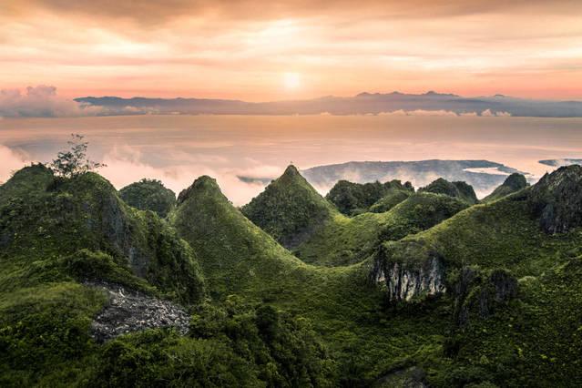 Sunset at Osmena Peak, Cebu Island, Philippines