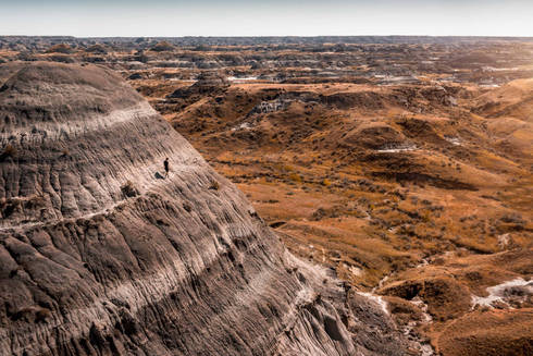 Rock formation in Dinosaur Provincial Park, Alberta, Canada