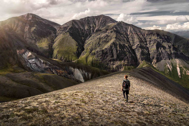 Hiking in Wrangell St. Elias National Park, Alaska
