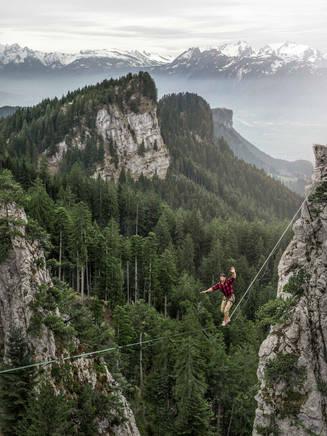 Highlining at Löwenzähne, Austria