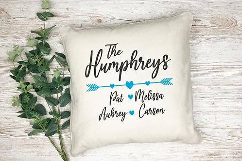 Family Last Name Custom Pillow