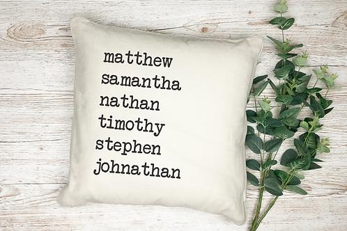 Custom Type Writer Pillow