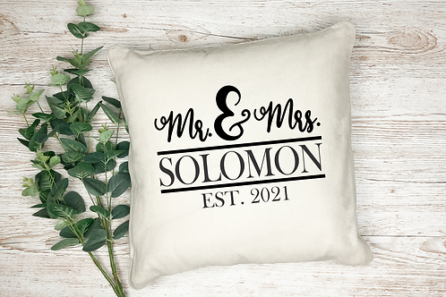 Personalized Mr. And Mrs. Pillow With Last Name