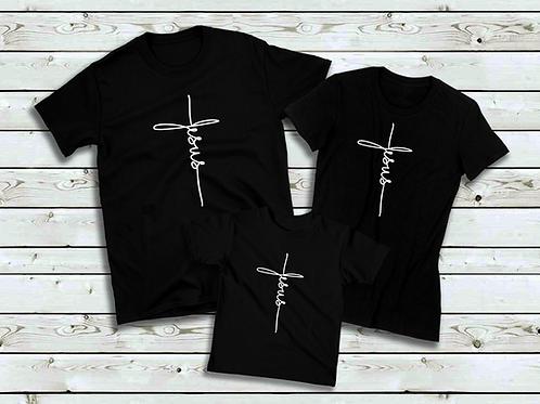 Cursive Jesus Cross