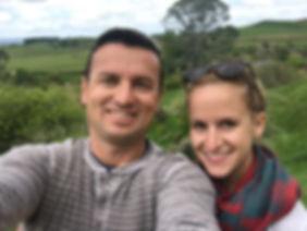 Jacek and Becca Wolicki at Hobbiton Movie Set in New Zealand