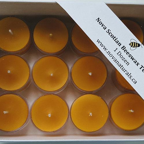 1 dozen Nova Scotian Beeswax Tealights