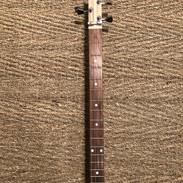Neck of special cigar box guitar