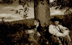 Henry and Virginia under a tree
