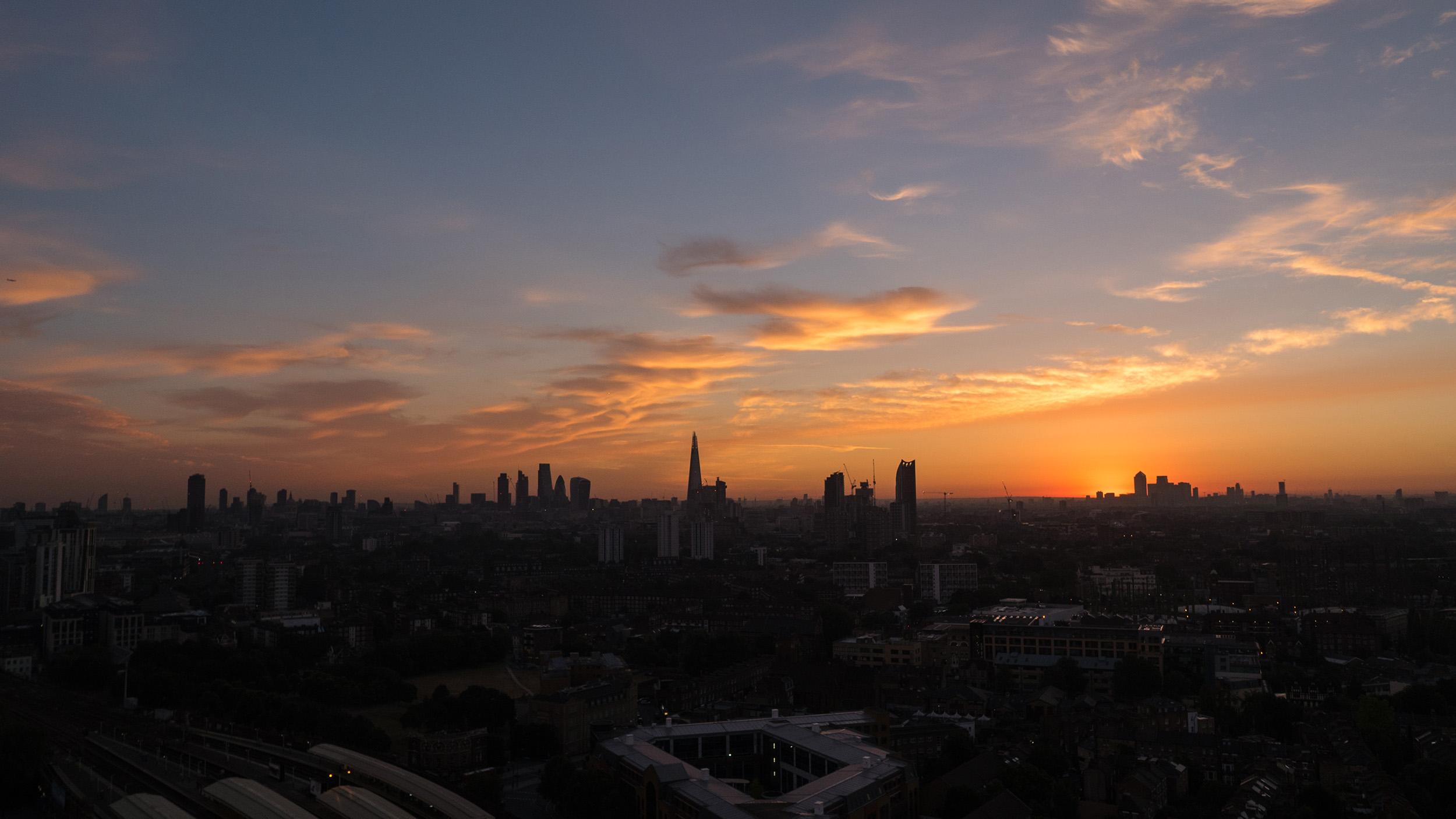 Londyn - dron zaber
