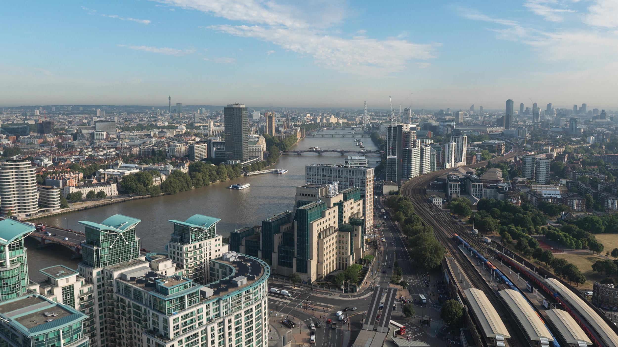 Londýn - letecký záber