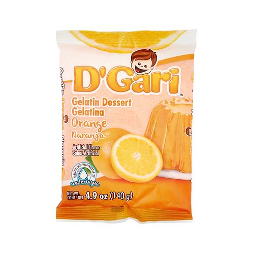 Gelatina D'Gari  de Agua Naranja - 120 g