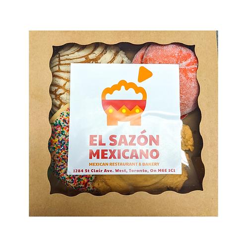 Pan Dulce Surtido - El Sazón Mexicano - 4 pzas