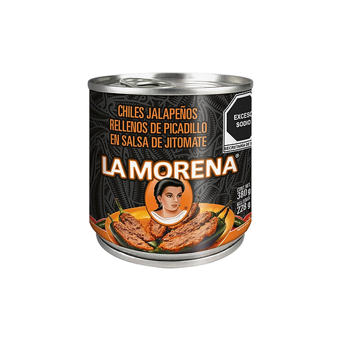 Jalapeno peppers stuffed with ground beef La Morena 380 g
