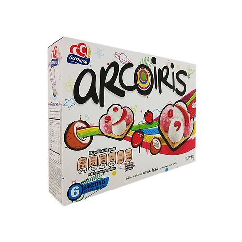 Galletas Arcoiris (6pc - pack) 440 g