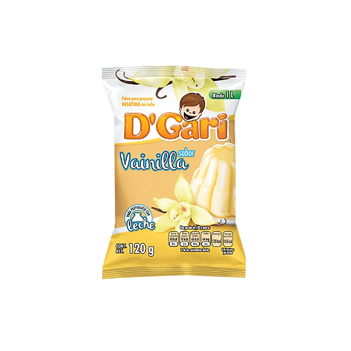 Gelatina D'Gari de Leche Vainilla (Vanilla)