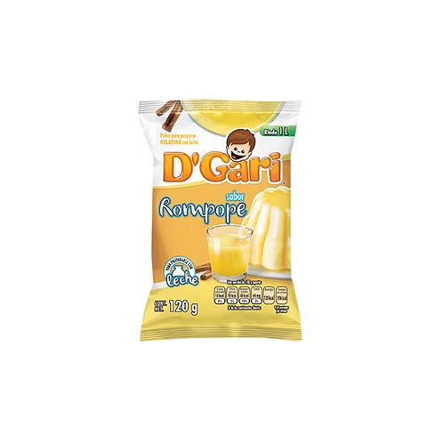 Gelatina D'Gari de Leche Rompope (Eggnog) - 120 g