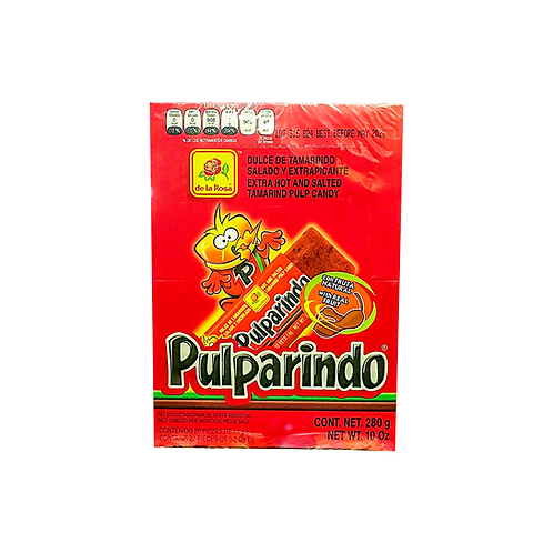 Pulparindo Extra Spicy La Rosa Box 20 pc