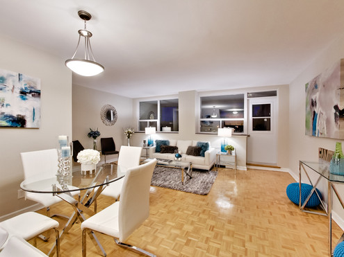 Condo Roselawn Modern Living and Dining.