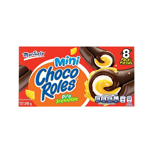 Mini Chocoroles Marinela 8 pc