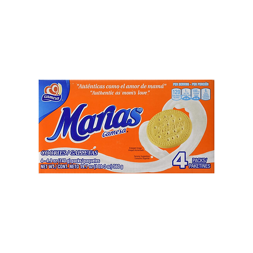 Galletas Marias Gamesa (Box with 4 packs)