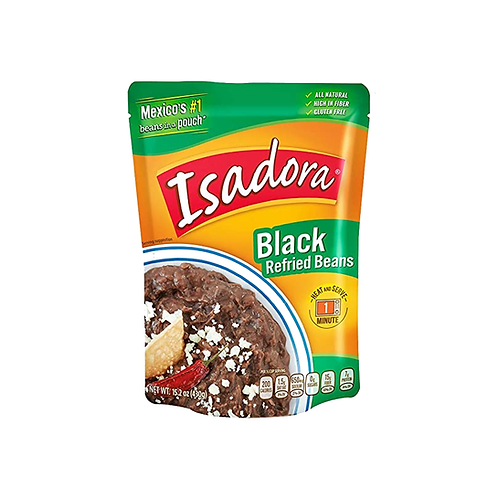 Isadora Black Refried Beans - 430 g