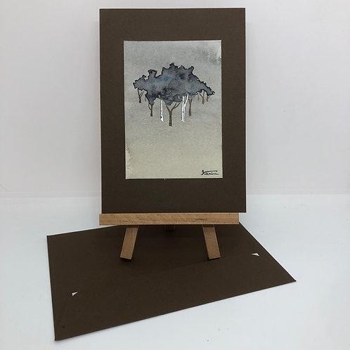 Carte arbres brune